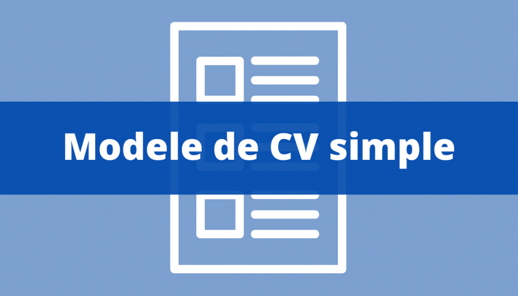 Modele CV simple